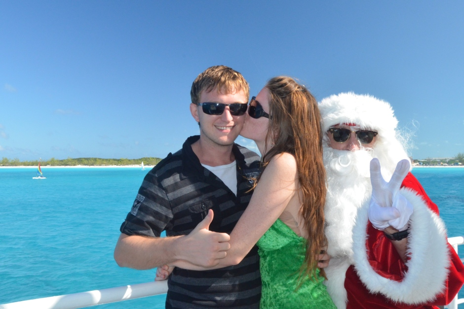 Bahamian Christmas with two of my favorite men!