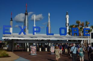 ENTRANCE TO THE KENNEDY SPACE CENTER