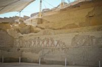 CARVINGS AND PAINTINGS INSIDE THE HUACA CAO VIEJO