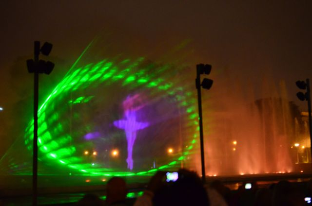 LASER FOUNTAIN SHOW