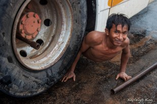 TIRE CHANGED CAMBODIAN STYLE