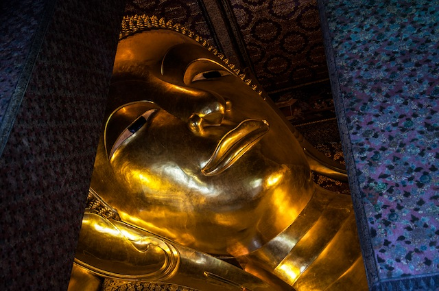 LARGEST RECLINING BUDDAH FACE