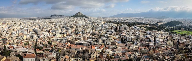 ATHENS PANO FROM ABOVE