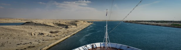 FACING THE SUEZ CANAL