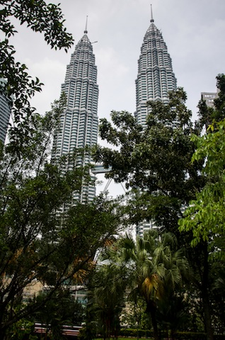 PETRONAS TOWERS FROM PARK