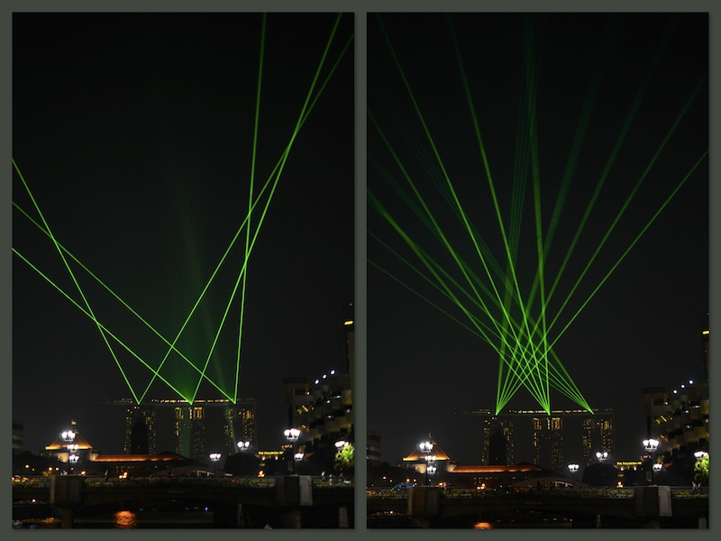 LASERS FROM MARINA SANDS