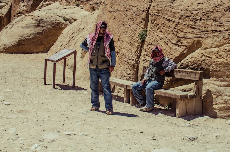 RELAXING AT SIQ ENTRANCE