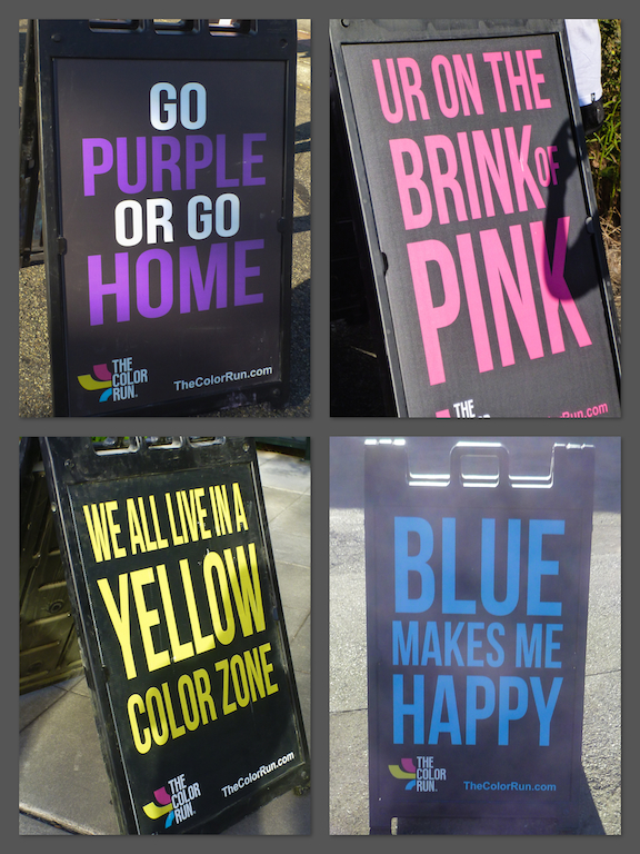 Color Zone Signs