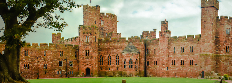 PECKFORTON CASTLE PANO