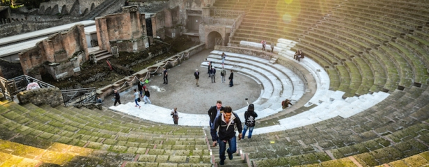 POMPEII THEATER FROM ABOVE-2