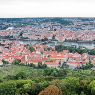 Prague from Petrin Tower
